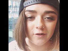 Cum on Maisie's cute face