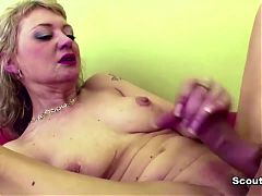 StepMom Help stepson with First Fuck and bring him to Cum